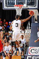 21 January 2012:  FIU guard-forward Dominique Ferguson (3) puts up a basket in the first half as the Florida Atlantic University Owls defeated the FIU Golden Panthers, 66-64, at the U.S. Century Bank Arena in Miami, Florida.