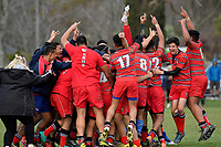 Hurricanes U15 Rugby Final - St Patrick's Silverstream v Kelston Boys' High School at St Patrick's Silverstream, Upper Hutt, New Zealand on Saturday 8 September 2018.<br /> Photo by Masanori Udagawa. <br /> www.photowellington.photoshelter.com