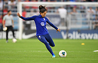 Saint Paul, MN - SEPTEMBER 03: Christen Press #23 of the United States during their 2019 Victory Tour match versus Portugal at Allianz Field, on September 03, 2019 in Saint Paul, Minnesota.