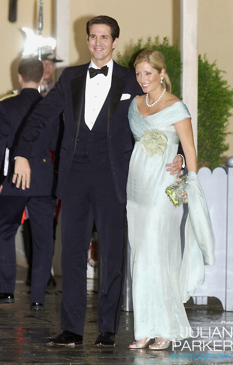 Crown Prince Pavlos & Crown Princess Marie Chantal of Greece attend a Gala Dinner at the El Pardo Royal Palace in Madrid..Picture: UK Press