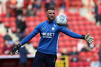 Declan Rudd of Preston North End warming up before Charlton Athletic vs Preston North End, Sky Bet EFL Championship Football at The Valley on 3rd November 2019