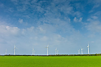 Wind turbines at Airtricity, Richfield Wind Farm at Kilmore, County Wexford, Southern Ireland