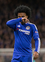 Willian of Chelsea during the UEFA Champions League group G match between Chelsea and FC Porto at Stamford Bridge, London, England on 9 December 2015. Photo by Andy Rowland.