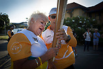 Batonbearer Carolyn Asher receiving the Baton as the Queen's Baton Relay visited Townsville. In the host state of Queensland the Queen's Baton will visit 83 communities from Saturday 3 March to Wednesday 4 April 2018. As the Queen's Baton Relay travels the length and breadth of Australia, it will not just pass through, but spend quality time in each community it visits, calling into hundreds of local schools and community celebrations in every state and territory. The Gold Coast 2018 Commonwealth Games (GC2018) Queen's Baton Relay is the longest and most accessible in history, travelling through the Commonwealth for 388 days and 230,000 kilometres. After spending 100 days being carried by approximately 3,800 batonbearers in Australia, the Queen's Baton journey will finish at the GC2018 Opening Ceremony on the Gold Coast on 4 April 2018.