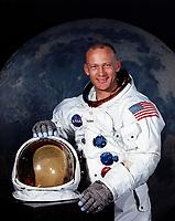 (JULY 1969) --- EDWIN E. ALDRIN, JR. astronaut. Aldrin was lunar module pilot of the Apollo 11 lunar landing mission. He now goes by Buzz Aldrin.