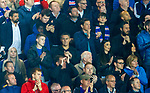 23.08.2018 Rangers v Ufa: Mrs Lafferty applauding as her man comes on