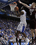 UK forward Alex Poythress makes a basket during the second half of the men's basketball game against Mississippi State at Rupp Arena in Lexington, Ky. on Saturday, February 27, 2013. Photo by Genevieve Adams
