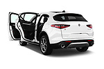 Car images close up view of 2018 Alfa Romeo Stelvio Base 5 Door SUV doors