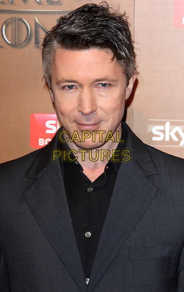 LONDON, ENGLAND - MARCH 18: Aiden Gillen arrives for the world premiere of Game of Thrones Season 5 at Tower of London on March 18, 2015 in London, England<br /> CAP/ROS<br /> &copy; Steve Ross/Capital Pictures