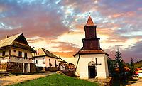 Main Street of Hollók? ( Holoko ) Paloc ethnographic village. Hungary