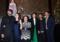 NEW YORK, NY - DECEMBER 9: Michael Gracey Rebecca Ferguson, Keala Settle, Zendaya, Zac Efro pictured as the cast of The Greatest Showman attend the Empire State Building in New York City on December 9, 2017. Credit: RW/MediaPunch /nortephoto.com NORTEPHOTOMEXICO