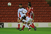 12th September 2017, Oakwell, Barnsley, England; Carabao Cup, second round, Barnsley versus Derby County; Adam Jackson of Barnsley FC clears the ball from Ikechi Anya of Derby County
