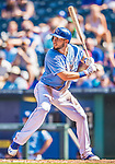 25 August 2013: Kansas City Royals first baseman Eric Hosmer in action against the Washington Nationals at Kauffman Stadium in Kansas City, MO. The Royals defeated the Nationals 6-4, to take the final game of their 3-game inter-league series. Mandatory Credit: Ed Wolfstein Photo *** RAW (NEF) Image File Available ***