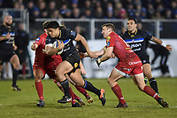 Ben Tapuai of Bath Rugby. European Rugby Champions Cup match, between Bath Rugby and the Scarlets on January 12, 2018 at the Recreation Ground in Bath, England. Photo by: Patrick Khachfe / Onside Images