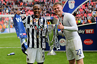 Nadjim Abdou and Aiden O'Brien of Millwall celebrate winning the Division One Play-Off Final during Bradford City vs Millwall, Sky Bet EFL League 1 Play-Off Final at Wembley Stadium on 20th May 2017