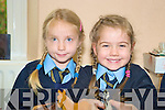 Grace O'Connor and Maya Fleming were settling in well at school in Lough Guitane National School, Killarney on Monday............