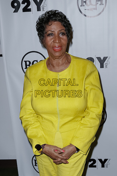 New York, NY - October 1 : Aretha Franklin attends 92nd Street Y Presents Aretha Franklin and Clive Davis in Conversation with Anthony Decurtis held at the 92nd Street Y on October 1, 2014 in New York City. (Photo by Brent N. Clarke / MediaPunch)<br /> CAP/ADM/BNC<br /> &copy;BNC/ADM/Capital Pictures