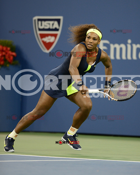 FLUSHING NY- SEPTEMBER 5: Serena Williams Vs Ana Ivanovic on Armstrong stadium at the USTA Billie Jean King National Tennis Center on September 5, 2012 in in Flushing Queens. Credit: mpi04/MediaPunch Inc. ***NO NY NEWSPAPERS*** /NortePhoto.com<br />
