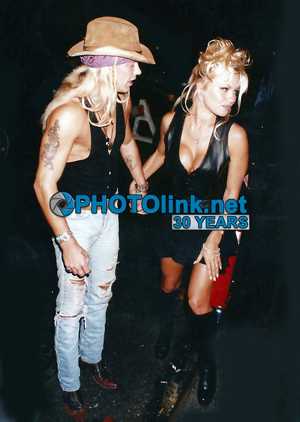 CelebrityArchaeology.com<br /> 1993 FILE PHOTO<br /> Pamela Anderson Brett Michaels 1993<br /> Photo By John Barrett-PHOTOlink.net<br /> -----<br /> CelebrityArchaeology.com, a division of PHOTOlink,<br /> preserving the art and cultural heritage of celebrity<br /> photography from decades past for the historical<br /> benefit of future generations, for these images are<br /> significant, both historically and aesthetically.<br /> ——<br /> Follow us:<br /> www.linkedin.com/in/adamscull<br /> Instagram: CelebrityArchaeology<br /> Blog: CelebrityArchaeology.info<br /> Twitter: celebarcheology