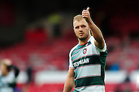 Lachlan McCaffrey of Leicester Tigers gives a thumbs up to supporters in the crowd after the match. European Rugby Champions Cup semi final, between Leicester Tigers and Racing 92 on April 24, 2016 at The City Ground in Nottingham, England. Photo by: Patrick Khachfe / JMP