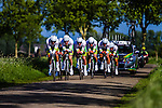National Team Australia, Stage 2: Team Time Trial, 62th Olympia's Tour, Netterden, The Netherlands, 13th May 2014, Photo by Thomas van Bracht / Peloton Photos