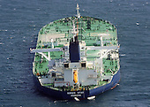 Somalia - January 9, 2009 -- The MV Sirius Star is observed at anchor by the U.S. Navy Friday, January 9, 2008 following an apparent payment via a parachuted container to pirates holding the Sirius Star. The United States 5th Fleet conducts maritime security operations to promote stability and regional economic prosperity. .Credit: David B. Hudson - U.S. Navy via CNP