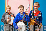 Pictured at Ceoltas Ceoltoiri Eireann finals in IT Tralee on Saturday morning were l-r: Ryan O'Neill (Lisselton) Darragh Mackessy (Listowel) and Neilus Mackessy (Lisselton).