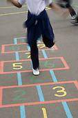 Game of hopscotch in a school playground