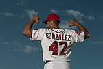 VIERA, FL-  FEBRUARY 22:  Gio Gonzales #47 poses for a portrait during the Washington Nationals Spring Training at Space Coast Stadium in Viera, FL (Photo by Donald Miralle) *** Local Caption ***