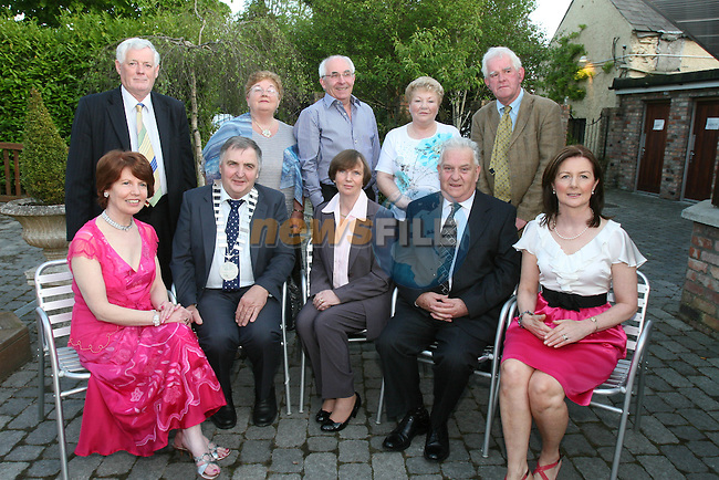 Reginal Committee, Tony Reilly, Sinead Reilly, Paddy Bonner, Alice Bonner, John McGrane (President), Heather Kilkelly, Brendan Sheridan (Reginal President), Helen Sheridan, Frank Murphy (Reginal President Elect) and Eilish Tierney (Incoming President Dunleer Bridge Club) at the Dunleer Bridge Club 21st Anniversary in Donegans...Photo NEWSFILE/Jenny Matthews.(Photo credit should read Jenny Matthews/NEWSFILE)....This Picture has been sent you under the condtions enclosed by:.Newsfile Ltd..The Studio,.Millmount Abbey,.Drogheda,.Co Meath..Ireland..Tel: +353(0)41-9871240.Fax: +353(0)41-9871260.GSM: +353(0)86-2500958.email: pictures@newsfile.ie.www.newsfile.ie.FTP: 193.120.102.198.