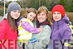 Emma Ladden, Carmel Foley, Molly Foley and Marian Foley at the Glounaguillagh National school fun run in Caragh Lake on Sunday.