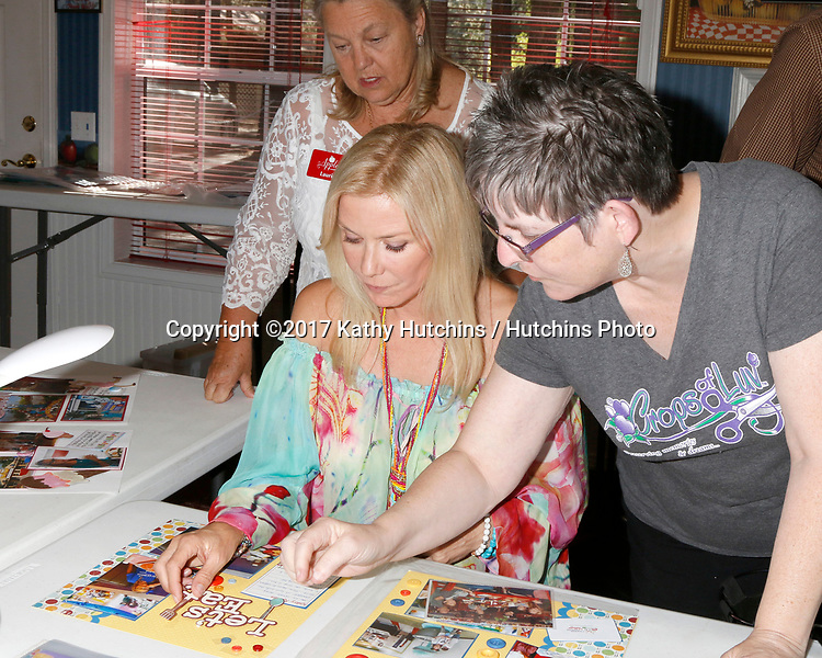 """LOS ANGELES - JUL 1:  Laurie Kagan, Katherine Kelly Lang, Jody McNelis at the """"Crops of Luv"""" Scrapbooking Event at the Apples Bed and Breakfast Inn on July 1, 2017 in Big Bear Lake, CA"""