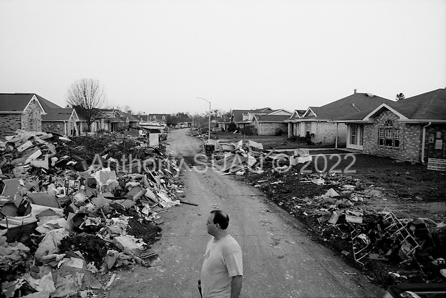 New Orleans, Louisiana.USA.December 3, 2005 ..Scenes in St. Bernard's Parish as it recovers after hurricane Katrina struck and the levees broke flooding the district..
