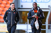 Blackpool's Harry Pritchard and Donervon Daniels arrive at Bloomfield Road<br /> <br /> Photographer Alex Dodd/CameraSport<br /> <br /> The EFL Sky Bet League One - Blackpool v Sunderland - Tuesday 1st January 2019 - Bloomfield Road - Blackpool<br /> <br /> World Copyright © 2019 CameraSport. All rights reserved. 43 Linden Ave. Countesthorpe. Leicester. England. LE8 5PG - Tel: +44 (0) 116 277 4147 - admin@camerasport.com - www.camerasport.com