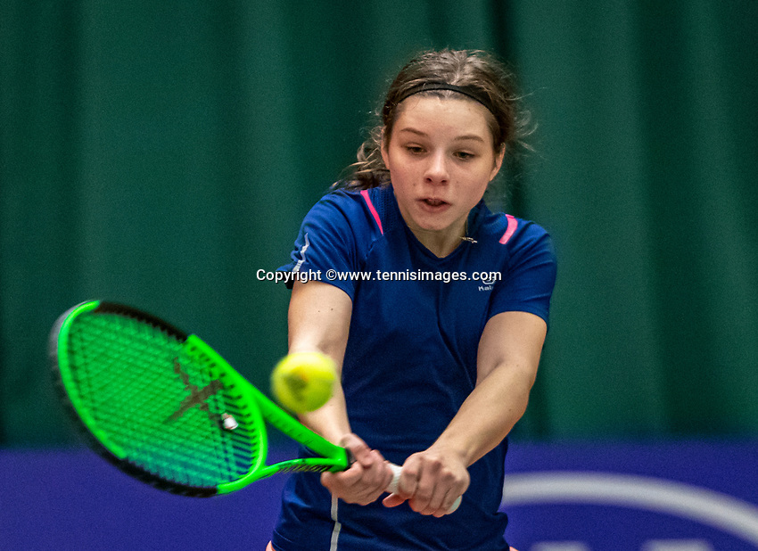 Wateringen, The Netherlands, December 4,  2019, De Rhijenhof , NOJK 14 and18 years,  Feline Eijkelenburg (NED)<br /> Photo: www.tennisimages.com/Henk Koster