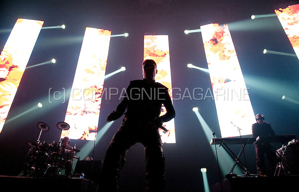 Belgian electronic music band Front 242 closing the first Sinner's Day festival in Hasselt (Belgium, 01/11/2009)