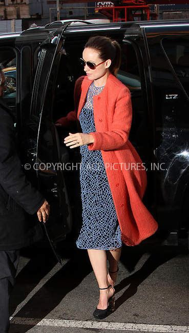WWW.ACEPIXS.COM......February 14 2013, New York City....Actress Olivia Wilde arrives back at her Meatpacking District apartment on February 14 2013 in New York City......By Line: Zelig Shaul/ACE Pictures......ACE Pictures, Inc...tel: 646 769 0430..Email: info@acepixs.com..www.acepixs.com
