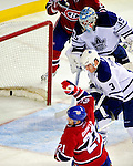 10 April 2010: Montreal Canadiens' right wing forward Brian Gionta celebrates his a first period go-ahead goal against the Toronto Maple Leafs at the Bell Centre in Montreal, Quebec, Canada. The Maple Leafs defeated the Canadiens 4-3 in sudden death overtime. Mandatory Credit: Ed Wolfstein Photo