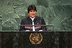 DSG meeting<br /> <br /> AM Plenary General DebateHis<br /> <br /> His Excellency Evo  MORALES AYMA Constitutional President of the Plurinational State of Bolivia