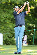 Bethesda, MD - July 1, 2017:  Arjun Atwal tee shot during Round 3 of professional play at the Quicken Loans National Tournament at TPC Potomac in Bethesda, MD, July 1, 2017.  (Photo by Elliott Brown/Media Images International)