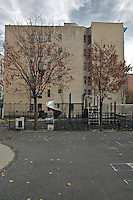 A recreational park close to The Gen Chauncey M. Hooper Towers, that hosts the Harlem Internet Computer Access program taught by instructor Merle Bush in Harlem, Manhattan, NY, USA on November 20, 2011.