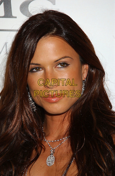 RHONA MITRA.Sony BMG Grammy Party 2005 held at the Roosevelt Hotel, Los Angeles, California.February 13th, 2005.Photo Credit: Laura Farr/AdMedia.headshot portrait fake tan orange silver necklace.www.capitalpictures.com.sales@capitalpictures.com.© Capital Pictures.