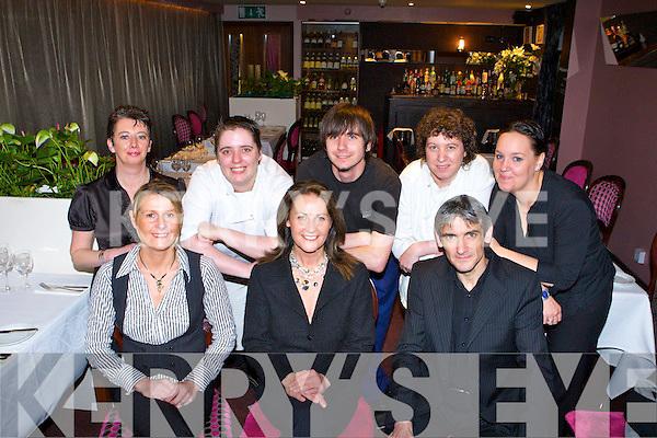 The wonderful staff at the Silver Fox, High street Killarney front row Debbie O'Leary, Mary Corkery, Tadgh Corkery. Back row: Caroline Murphy, Laura Keane, Michael Bajus, Josie Moloney and Mercedes Fernandez.