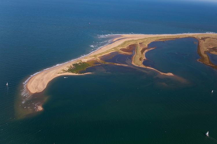 Aerial view of Blakeney Point, Norfolk, UK