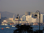 Modern skyline of Hong Kong and the Harbour seen from Kowloon