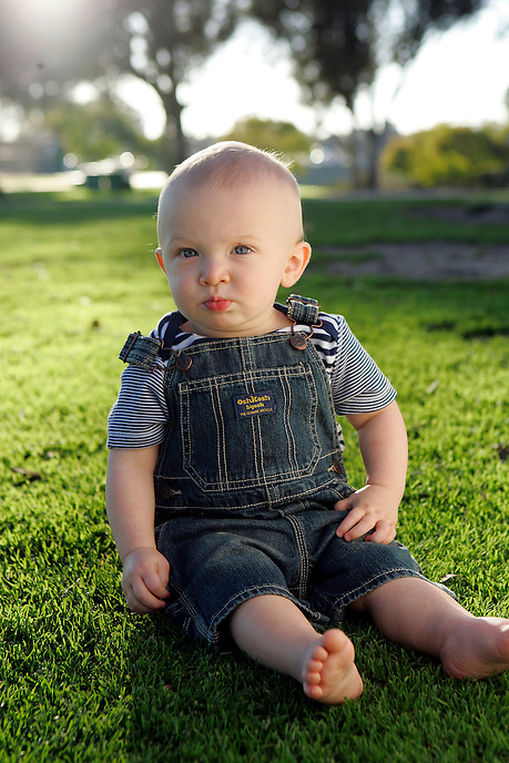 Portrait of a baby boy in San Diego, California.