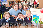 HAPPY DAY:  Pupils pictured at the official openening of  a new extension to Scoil Ide  National School in Curranes on Friday last..Front L/r. Breda Cremins, Jane Lynch, Aaron O'Connor..Back L/r. Caitlin Nolan, Katie Cotter and Victoria Cotter.   Copyright Kerry's Eye 2008