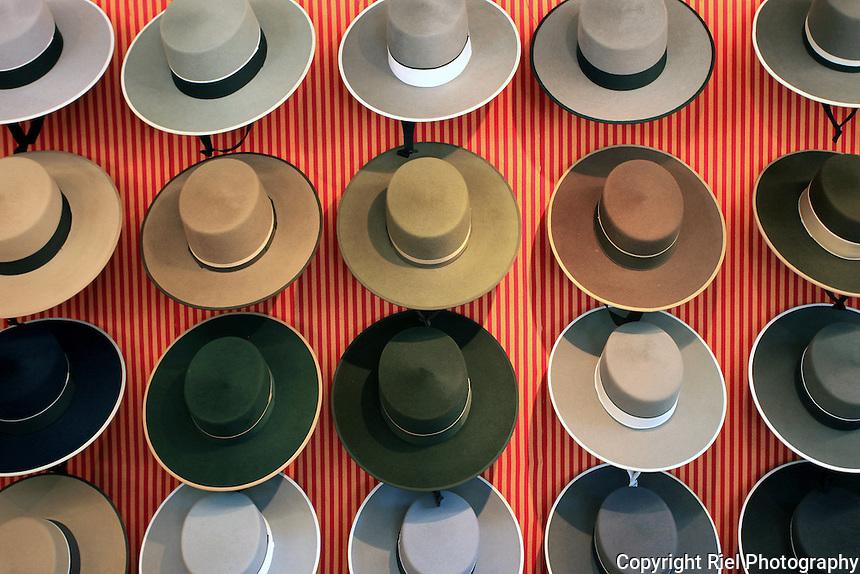 Traditional Spanish cordobes hats