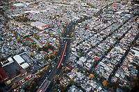 El Metro. Aerial photos of Mexico City, Mexico