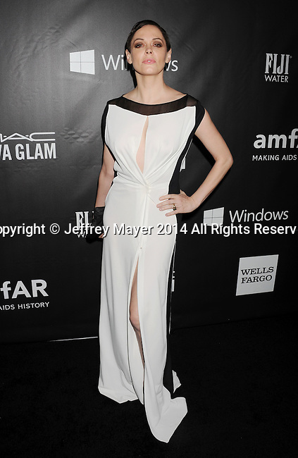 HOLLYWOOD, CA- OCTOBER 29: Actress Rose McGowan attends amfAR LA Inspiration Gala honoring Tom Ford at Milk Studios on October 29, 2014 in Hollywood, California.